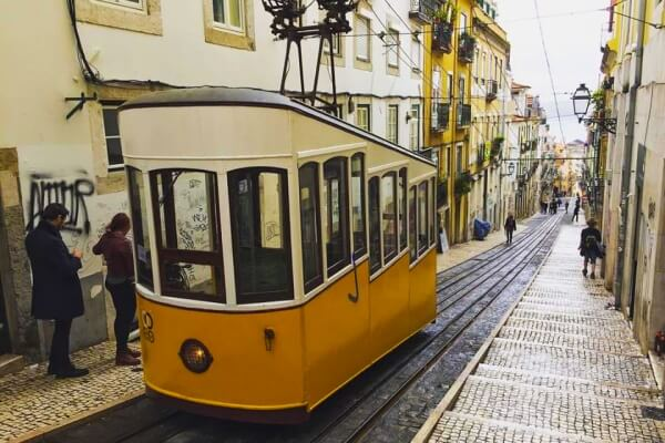 Ascensor da Bica, Lisbon, Portugal