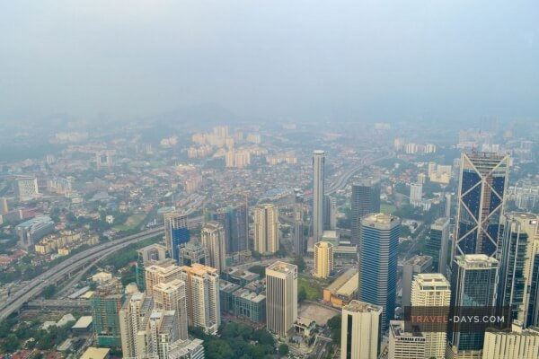 View from PETRONAS Twin Towers