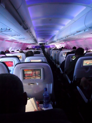 Virgin America airplane interior